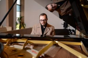 lars at piano double